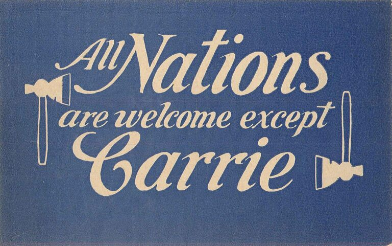 All Nations Welcome Except Carrie