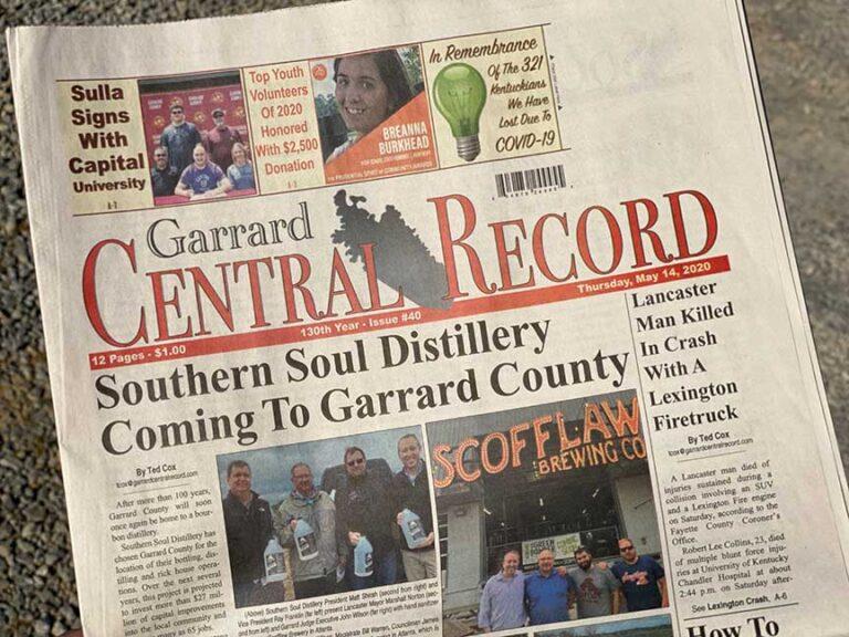 NEWSPAPER-SOUTHERN SOUL DISTILLERY